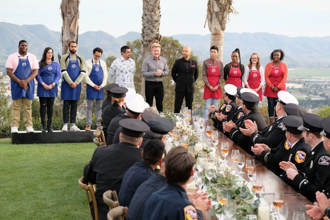 """Firefighters who helped battle the Thomas Fire in Ventura and Santa Barbara counties are the guests of honor during the """"American Heroes"""" episode of """"MasterChef."""" The episode is scheduled to debut on Aug. 29."""