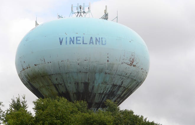 A water tower, located at the corner of North Main Road and East Oak Road in Vineland, is scheduled to be painted.