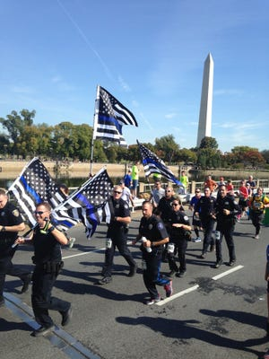 Members of Run to Remember LA Uniform Team ran in the 5k at the 2018 National Law Enforcement Memorial in Washington, D.C. in honor of Detective Jason Weiland.
