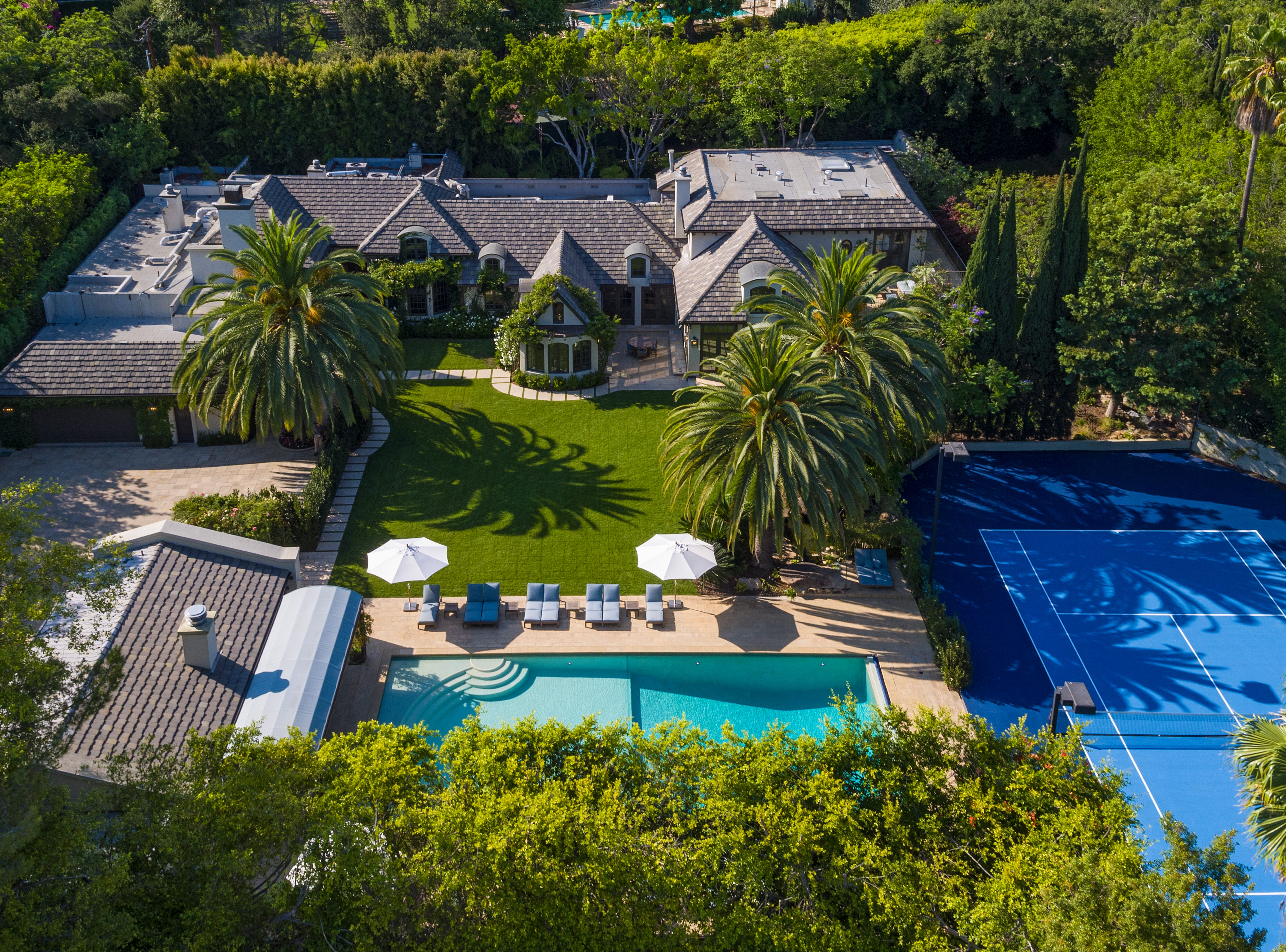 If Madonna could see her former Sunset Boulevard home today, she'd probably want to buy it back, says TopTenRealEstateDeals.com.  She bought it in 2003 for $12 million when she married Guy Ritchie and listed it for sale in 2012 for $28 million, selling it in 2013 for $19.5 million. Since then it has transformed to one of Beverly Hills best homes, priced at $35 million.