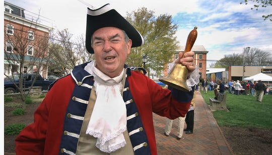 Then-Newark Mayor Vance A. Funk III rings a bell during the town's 250th anniversary celebration in 2008.