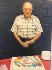 Secret for a long life? Live for and love God and be a good neighbor says Dayton TerBeest at his 90th birthday party four years ago.