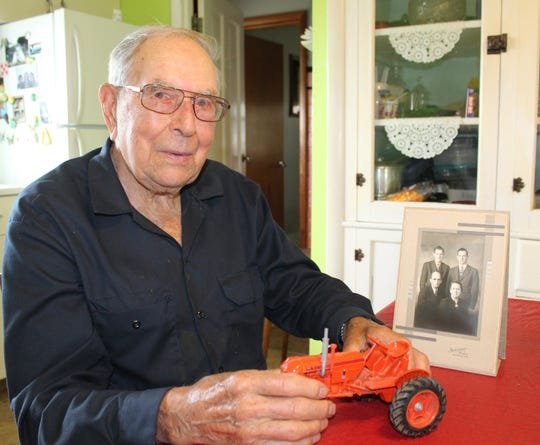 Dayton TerBeest reminisces about the family's first Case tractor and his parents, Henry and Hattie and brother, David.
