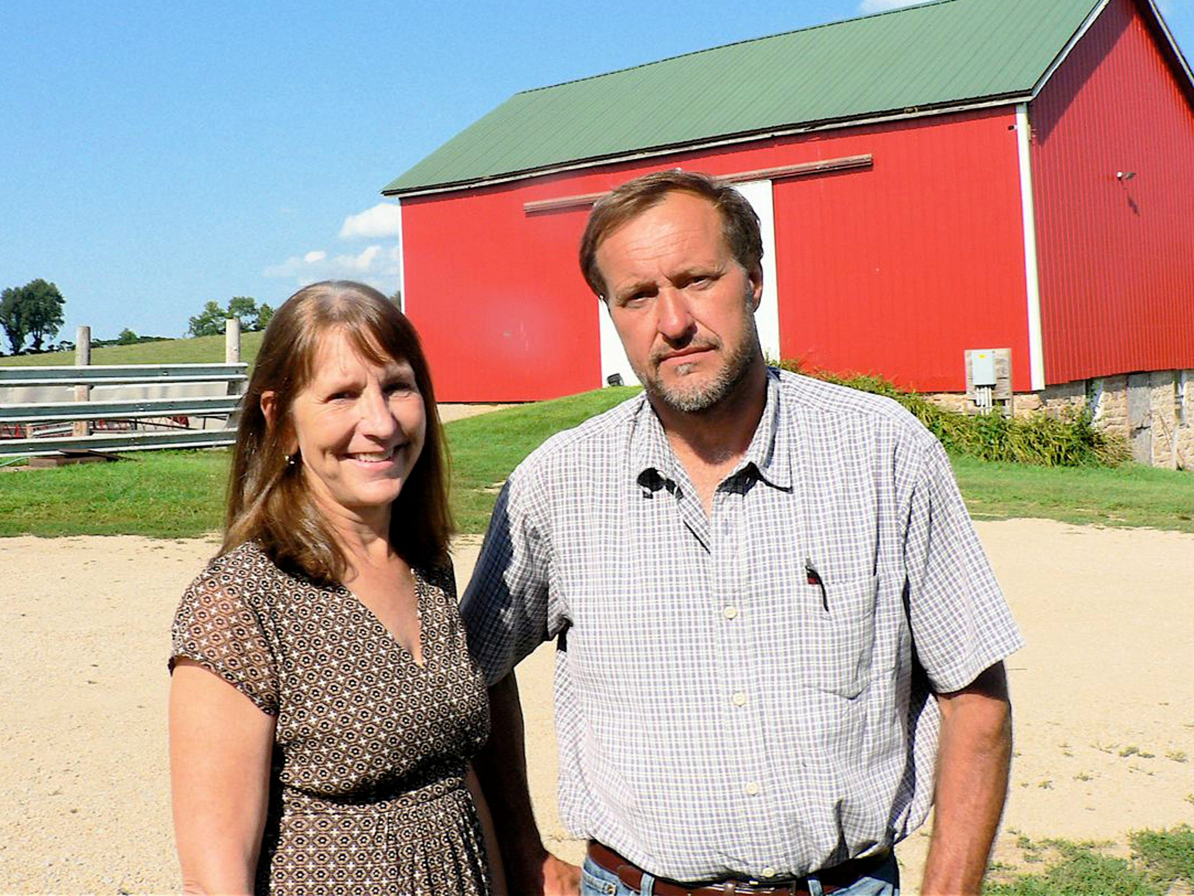 Linda and Jim Link own and manage 60 beef cows.