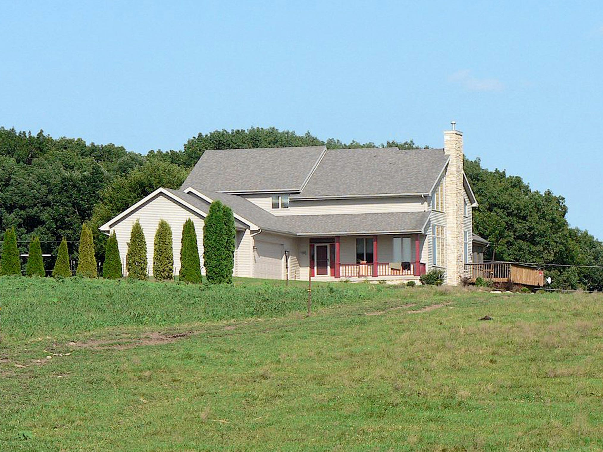 The Links built this house overlooking the farmstead 12 years ago.