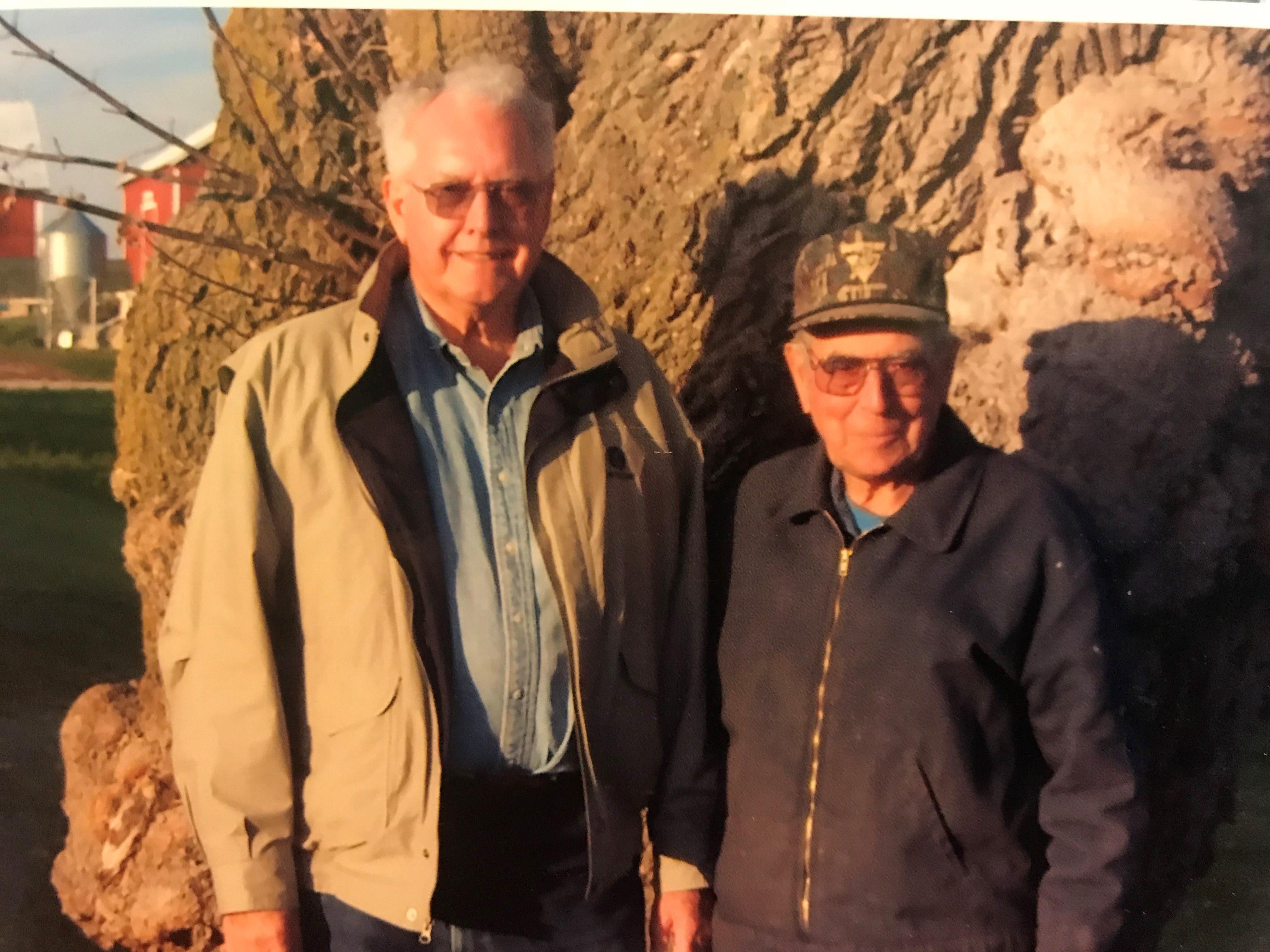 Dayton TerBeest, 94, and his younger brother, David, 90, communicate daily though emails and lettters.