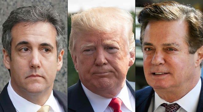 Michael Cohen, President Donald Trump, and Paul Manafort