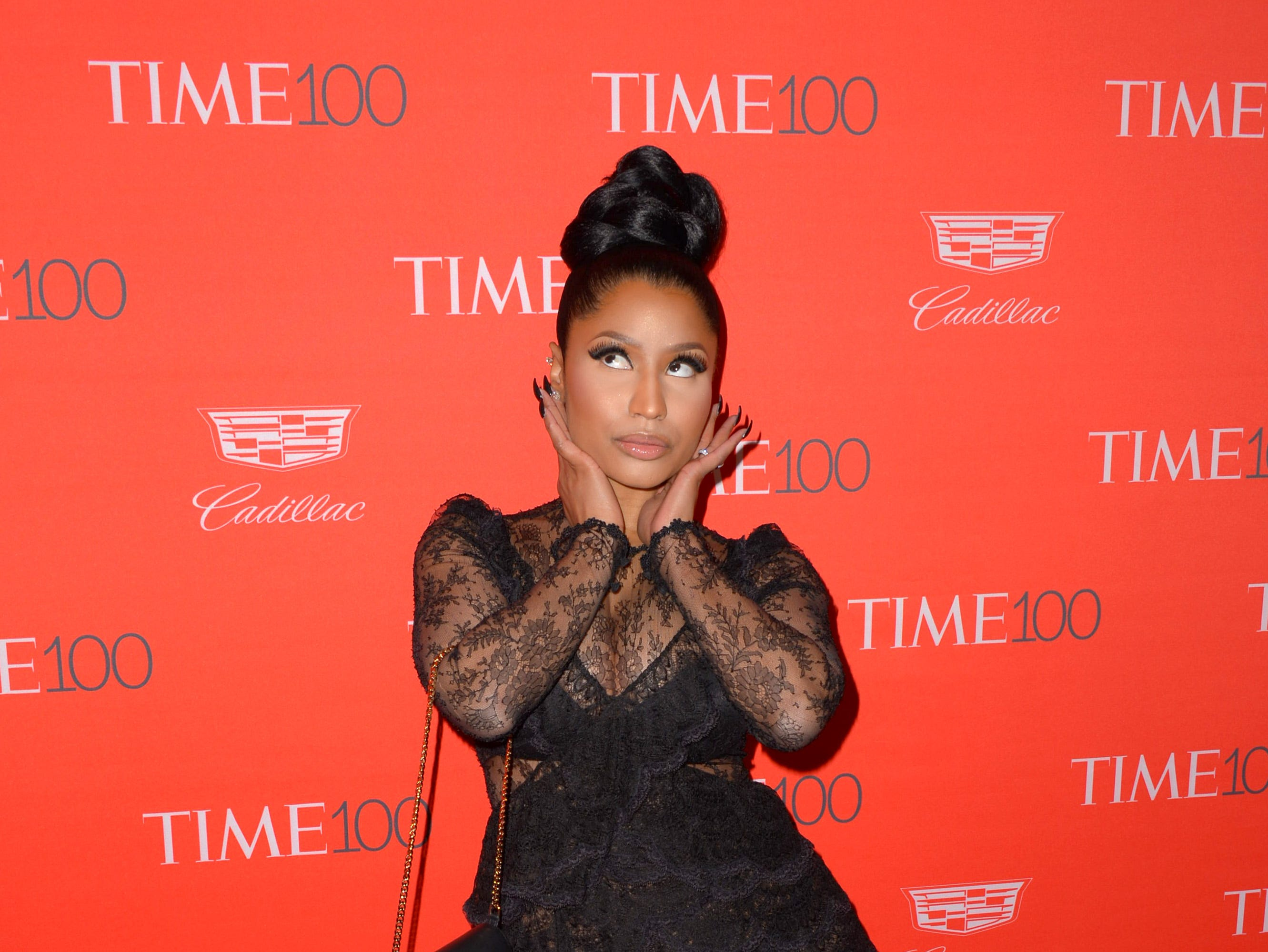 NEW YORK, NY - APRIL 26:  Nicki Minaj attends the 2016 Time 100 Gala at Frederick P. Rose Hall, Jazz at Lincoln Center on April 26, 2016 in New York City.  (Photo by Andrew Toth/FilmMagic) ORG XMIT: 633863469 ORIG FILE ID: 524665694