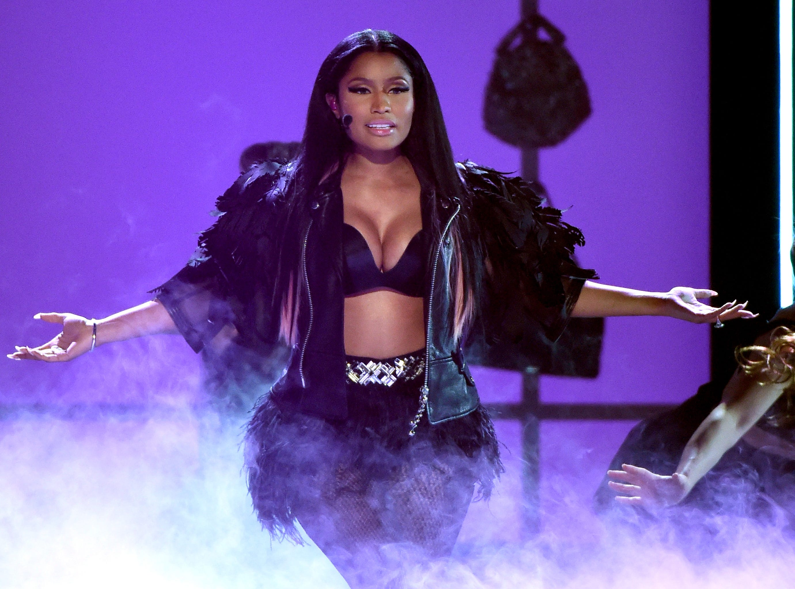 LAS VEGAS, NV - MAY 17:  Recording artist Nicki Minaj performs onstage during the 2015 Billboard Music Awards at MGM Grand Garden Arena on May 17, 2015 in Las Vegas, Nevada.  (Photo by Ethan Miller/Getty Images) ORG XMIT: 553594243 ORIG FILE ID: 473817102