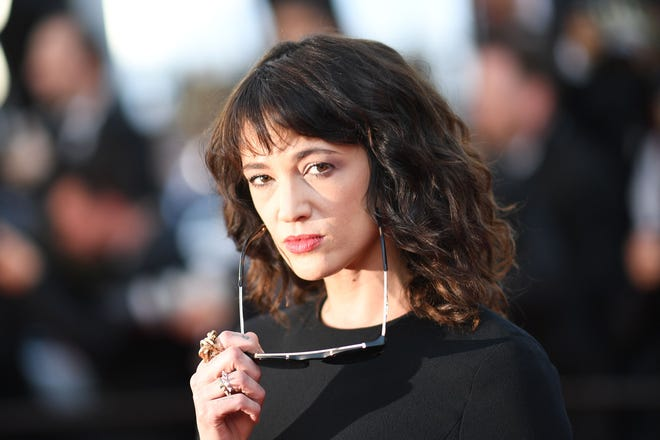 Asia Argento poses on May 19, 2018, at the Cannes Film Festival in Cannes, France.