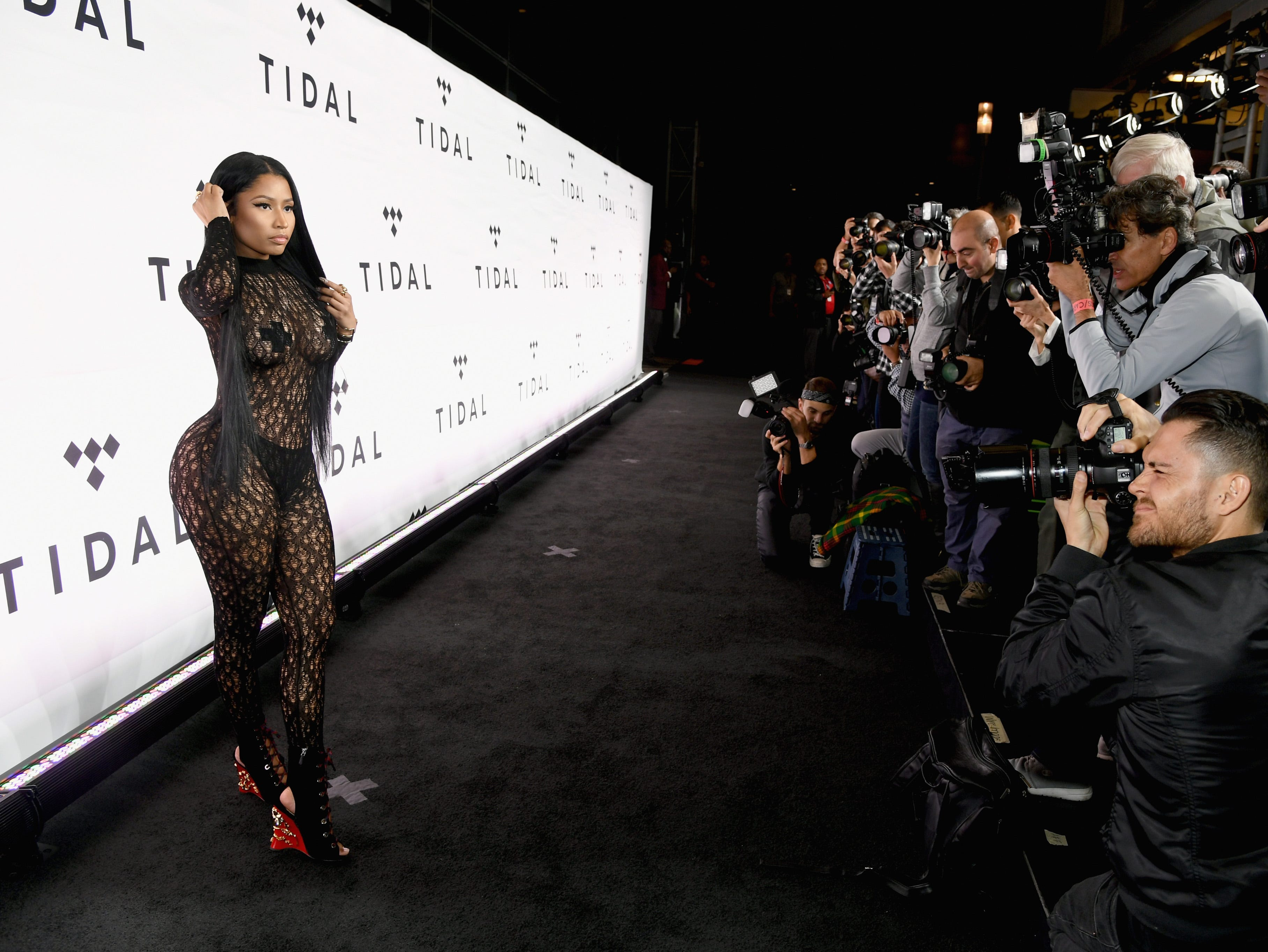 NEW YORK, NY - OCTOBER 15:  Rapper Nicki Minaj attends TIDAL X: 1015 on October 15, 2016 in New York City.  (Photo by Larry Busacca/Getty Images for TIDAL) ORG XMIT: 676014043 ORIG FILE ID: 614910640