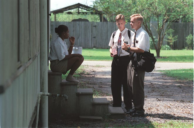The Church of Jesus Christ of Latter-day Saints missionaries in Louisiana on September, 9, 1997.