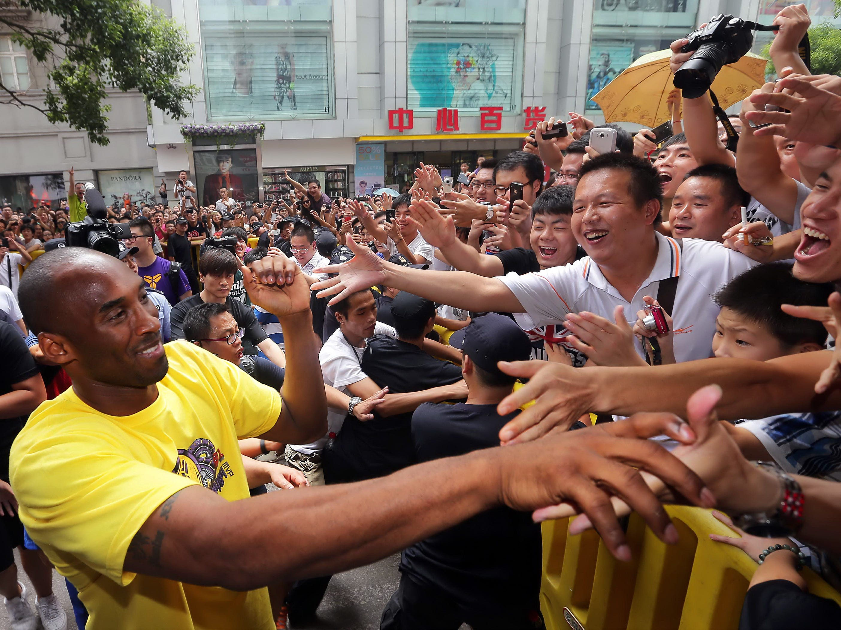Kobe is a big deal in China, and he's made many trips to the country. He even started the Kobe Bryant China Fund, which raises money within China earmarked for education and health programs.