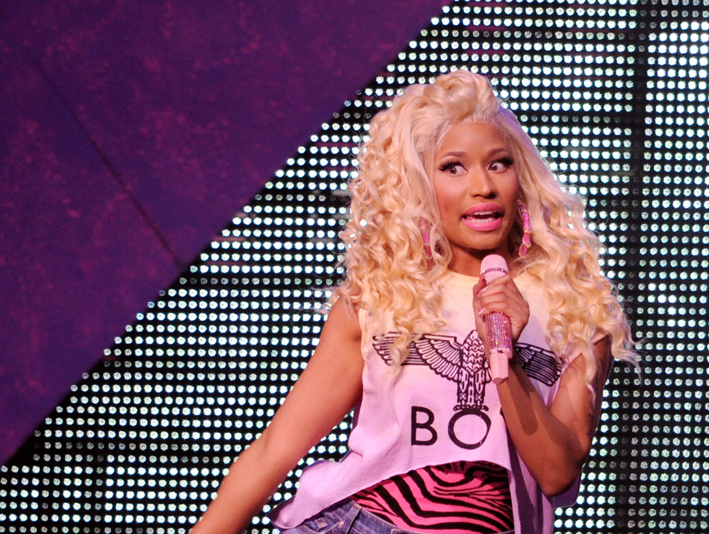 LOS ANGELES, CA - AUGUST 08:  Singer Nicki Minaj performs at the Nokia Theatre L.A. Live on August 8, 2012 in Los Angeles, California.  (Photo by Kevin Winter/Getty Images) ORG XMIT: 149343858 ORIG FILE ID: 150027886