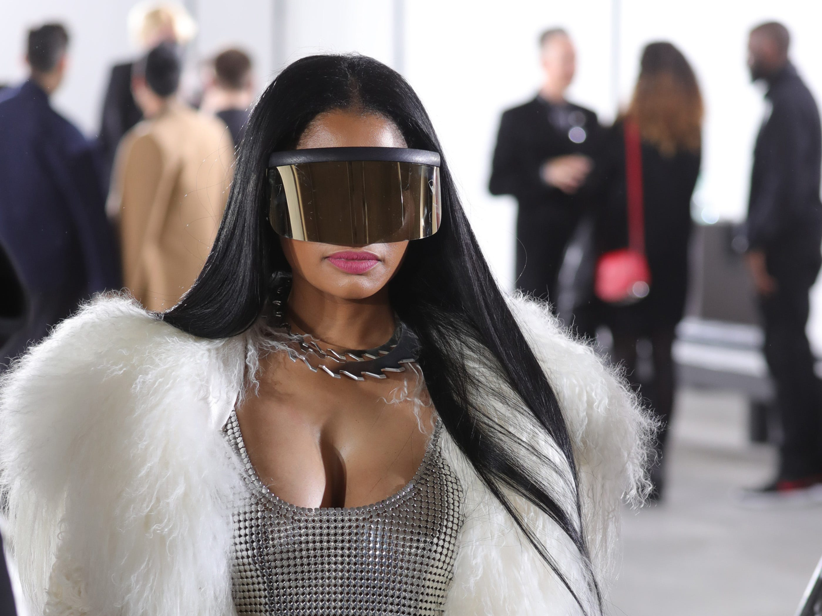 PARIS, FRANCE - MARCH 02:  Nicki Minaj attends the Rick Owens show as part of the Paris Fashion Week Womenswear Fall/Winter 2017/2018 on March 2, 2017 in Paris, France.  (Photo by Antonio de Moraes Barros Filho/WireImage) ORG XMIT: 700006840 ORIG FILE ID: 647185498