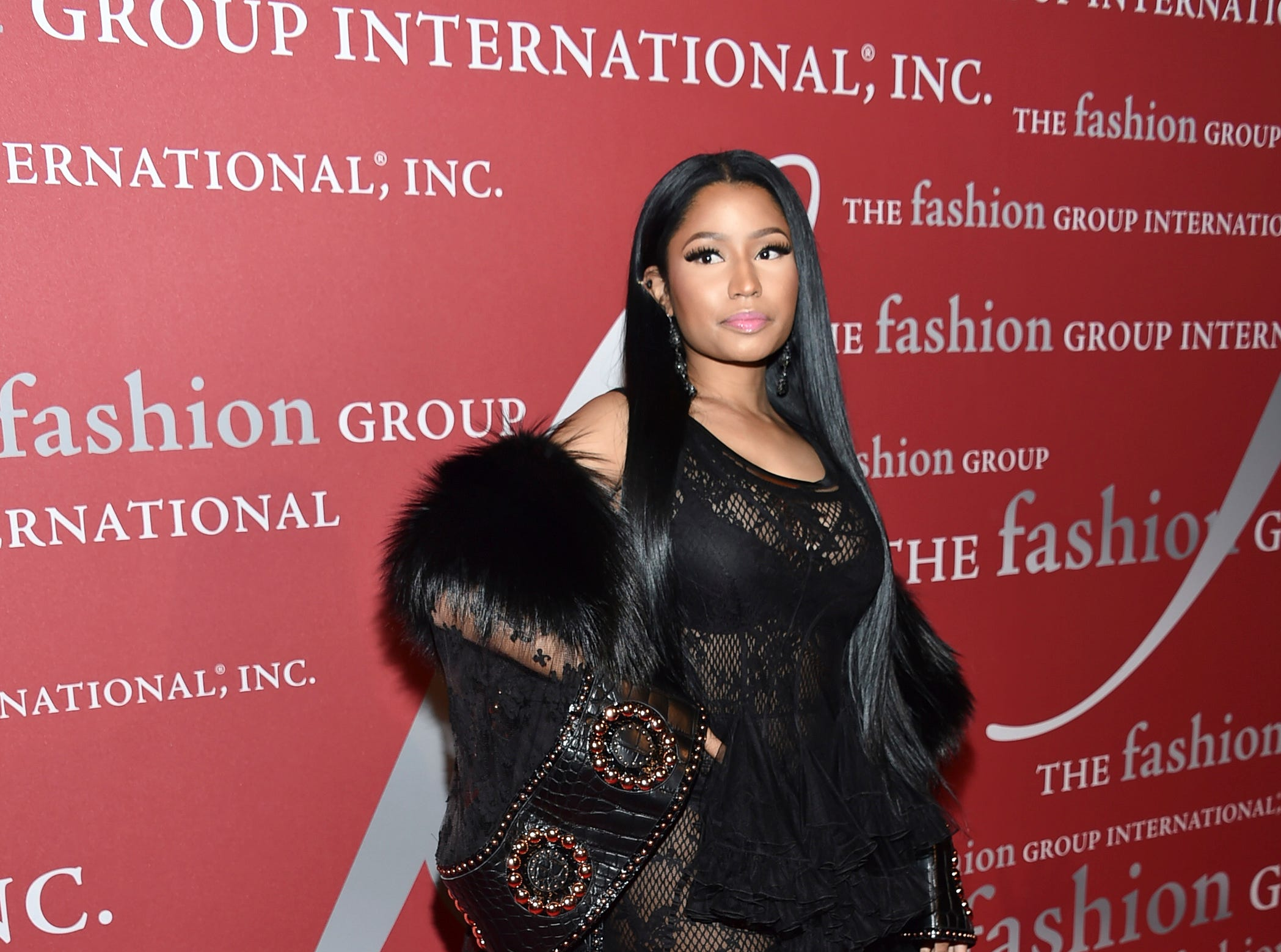 Singer Nicki Minaj attends The Fashion Group International's Night of Stars Gala at Cipriani Wall Street on Thursday, Oct. 27, 2016, in New York. (Photo by Evan Agostini/Invision/AP) ORG XMIT: NYEA229