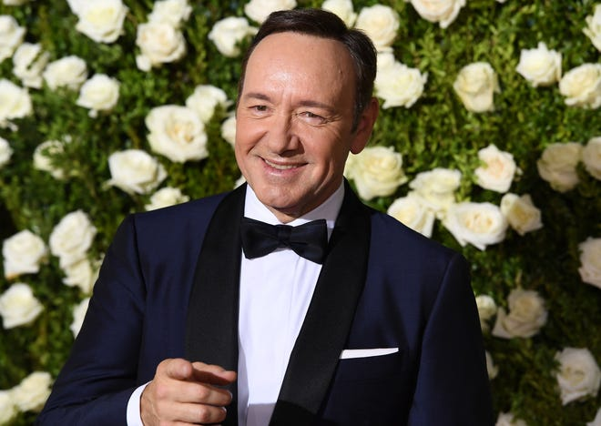 Kevin Spacey on June 11, 2017, hosting the Tony Awards in New York City.
