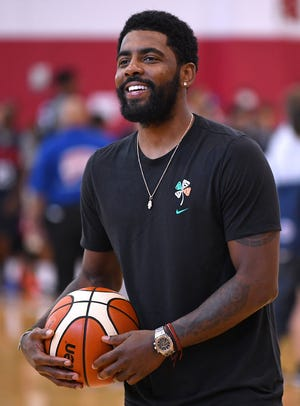 Kyrie Irving is pictured during the 2018 USA Basketball National Team Minicamp at Mendenhall Center.
