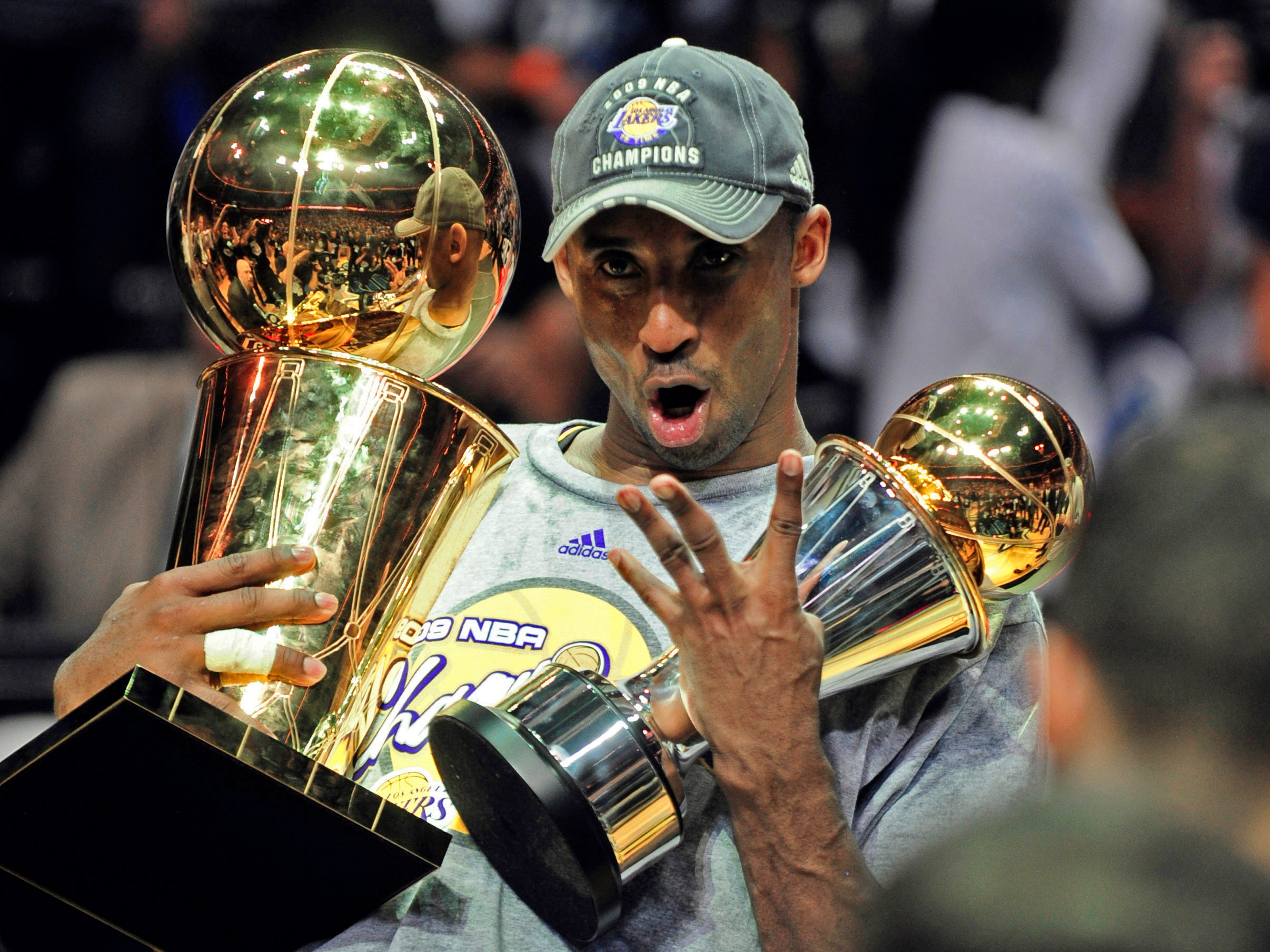 Kobe won two NBA Finals MVP awards, the first in 2009 against the Orlando Magic.