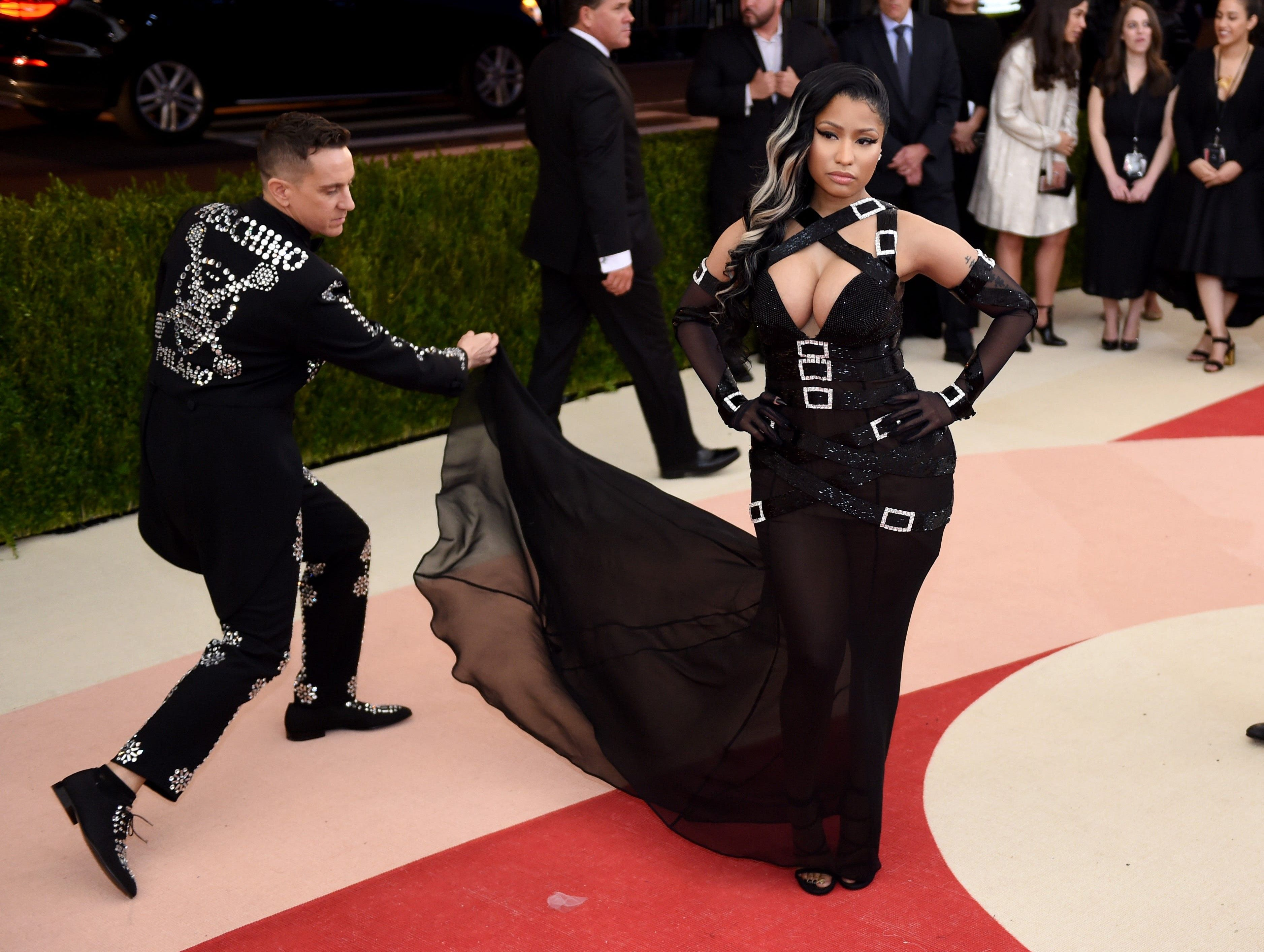 Nicki Minaj arrives for the Costume Institute Benefit at The Metropolitan Museum of Art May 2, 2016 in New York. / AFP PHOTO / TIMOTHY A. CLARYTIMOTHY A. CLARY/AFP/Getty Images ORIG FILE ID: 551521948