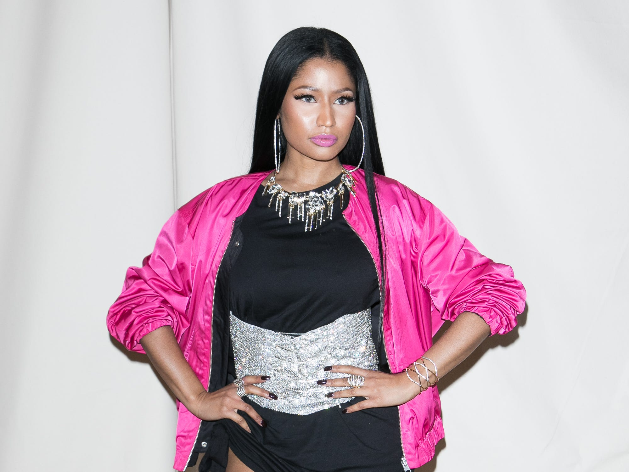PARIS, FRANCE - MARCH 01:  Singer Nicki Minaj attends the H&M Studio show as part of the Paris Fashion Week on March 1, 2017 in Paris, France.  (Photo by Marc Piasecki/WireImage) ORG XMIT: 700013536 ORIG FILE ID: 646878388