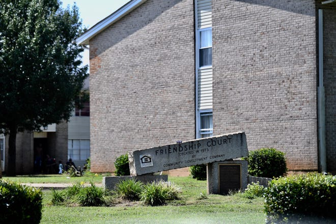 A kitten was thrown onto a roof at  the Friendship Court apartment complex in Anderson, according to police
