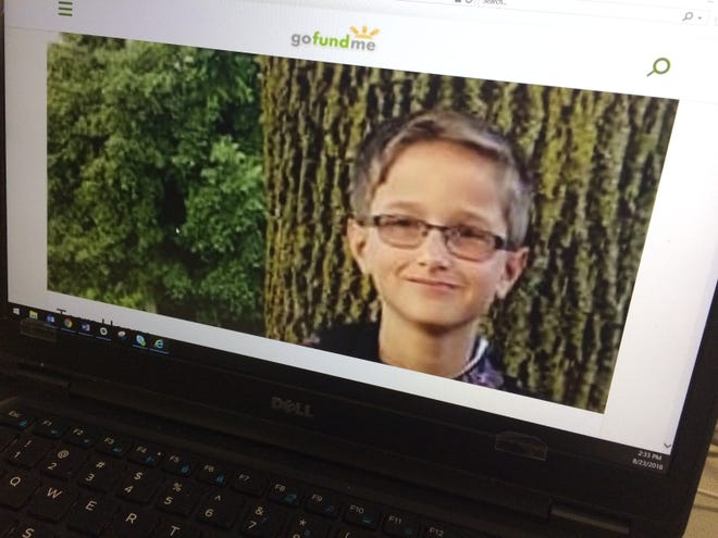 A GoFundMe campaign web page has been set up for Henry Schinke, the 13-year-old boy injured when he was hit by a motorcycle on Sunday while riding his bicycle.