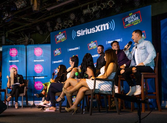 "Mike ""The Situation: Sorrentino answers a question as Cast members of MTV's Jersey Shore Family Vacation are interviewed by SiriusXM host Jenny McCarthy at Jenkinson's on the eve of the Season 2 debut."