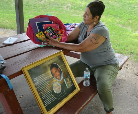 Rosetta Brewer is giving school supplies to children Monday on the birthday of her murdered son.