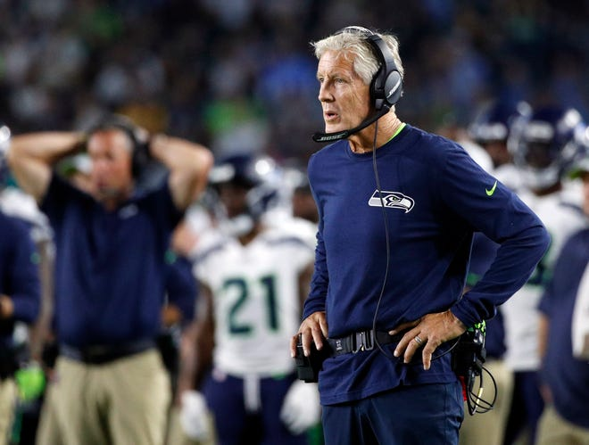 Seahawks head coach Pete Carroll hopes to get a long look at several of the players competing for starting positions during Friday's preseason game against the Vikings.