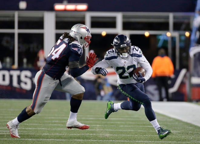 C.J. Prosise had 66 yards rushing and 87 yards receiving during a Nov. 13, 2016, game against the New England Patriots in Foxborough, Mass. Injuries have stalled his career since that game.