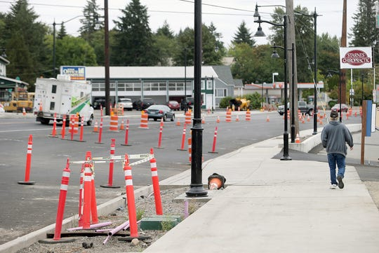 Theres no construction work on Silverdale Way in Old Town as Operating engineers from Local 302 are striking, suspending the Silverdale Way project, on Thursday, August 23, 2018.