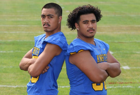 Brothers McCoy (left) and Kaipo Retome will play linebacker for Bremerton High this fall.