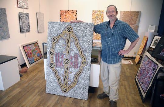 After 23 years in Seattle's Rainier Square, longtime Lemolo resident Jeffrey Moose has relocated his art gallery to Winslow Way in Bainbridge Island. He specializes in aboriginal Australian art.
