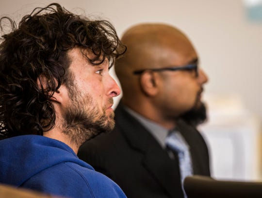Jason Dion, 39, of Winooski appears in Vermont Superior Court in St. Albans on Thursday, Aug. 23, 2018, and faced attempted second degree murder and other charges after police say Dion shot at a car while driving on I89 in Milton.