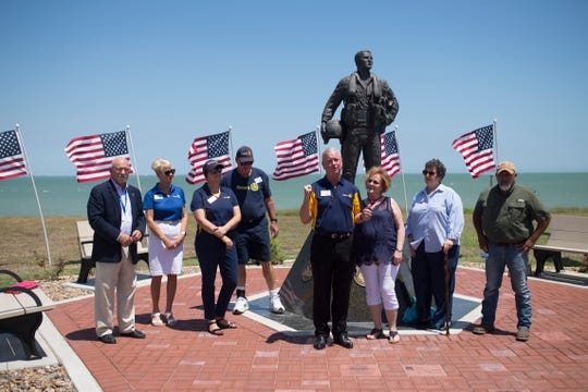 City officials and Rotary Club of Corpus Christi members announce the Flags for Heroes Project on Thursday, Aug. 23, 2018. The project will happen during the week of Sept. 11.