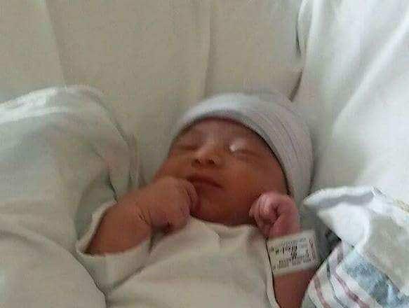 Kataleya Rose Garza a day after she was born during Hurricane Harvey
