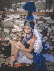 Ingleside model Lindsay Guzzi wanted to capture how she felt after Hurricane Harvey devastated her community.