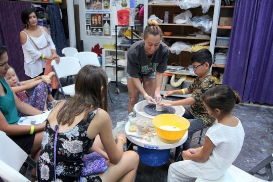 Artists will be able to teach festival-goers at Arts Alive how to make sand sculptures, glass lamp-working, steamroll printmaking and more.