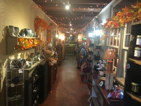 Crafts and antiques are shown inside the Rancocas Woods Craft Co-op, which houses more than 60 craft and antique vendors.