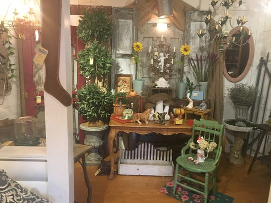 Vintage and antique furnishings are shown inside of Creek Mercantile at Rancocas Woods Village of Shops, which has been making a comeback.