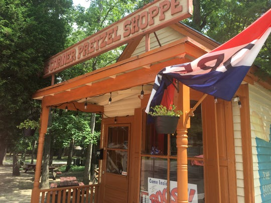 The Hot Dog Shack, located where The Corner Pretzel Shoppe used to be, is among the restaurants at Rancocas Woods Village of Shops, which is making a resurgence recently.