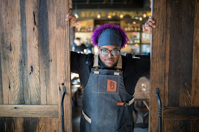 Christian Gill, executive chef and co-owner of Boomtown Biscuit Bar