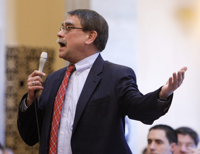 Ohio state Rep. Rep. Bill Seitz, R-Green Township, was investigated after a complaint was submitted over remarks made at an event.  AP file ADVANCE FOR SUNDAY, JULY 24 – FILE – In this March 2, 2011, file photo, Republican Ohio state Sen. Bill Seitz speaks during a floor debate in Columbus, Ohio. Ohio's medical marijuana law takes effect Sept. 8, 2016, and Republican Ohio state Sen. Bill Seitz says changes may be required to part of the law that sets aside a piece of the state's future pot business for minorities, provisions that The Associated Press reported may be unconstitutional. (AP Photo/Jay LaPrete, File)