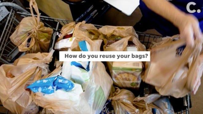 Promo screenshot for plastic bags video