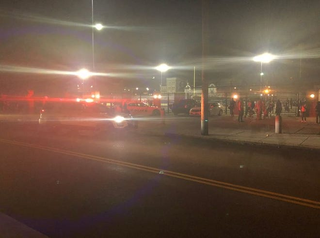 There was a large police presencenear Taft High School on Wednesday night after shots were fired in the area.