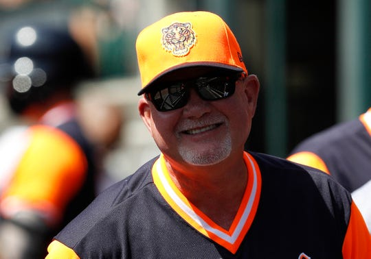 Tigers manager Ron Gardenhire during the first inning on August 23, 2018, at Comerica Park.