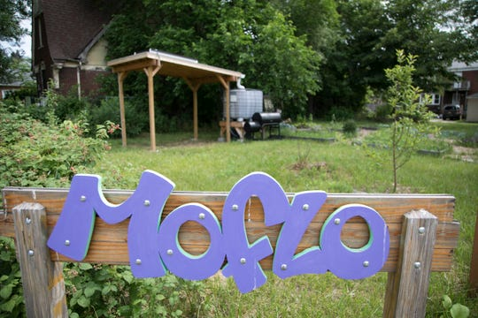 A community garden can be seen on the corner of Florence Street and Monica Street, Monday, June, 25, 2018 in Detroit. City leaders have told Fitzgerald residents that the city's revitalization project will stabilize the neighborhood and eliminate blight.