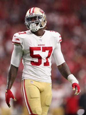 The Lions acquired linebacker Eli Harold from the San Francisco 49ers on Thursday for a conditional seventh-round draft pick in 2020.