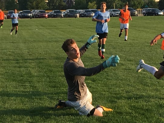 """Senior Ryan Silberg knew the odds were against him making the Northville varsity. """"I gave it my all and that's all you can do,"""" he said."""